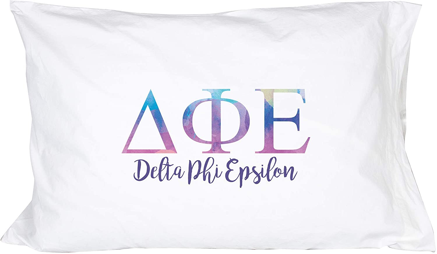 Alpha Omicron Pi aoii Sorority Floral Letters with Founding Year Pillowcase 300 Thread 100/% Cotton Count