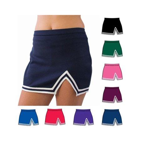 Pizzazz Multi Color A Line V Notch Cheer Uniform Skirt Girls 2-16 for $<!---->