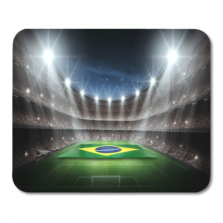 KDAGR Soccer Green World Stadium Brasil Flags Cup Football Best Mousepad Mouse Pad Mouse Mat 9x10