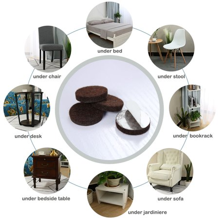 """Felt Furniture Pads Round 1 3/4"""" Self Adhesive Anti-scratch Floor Protector 30pcs - image 3 of 7"""