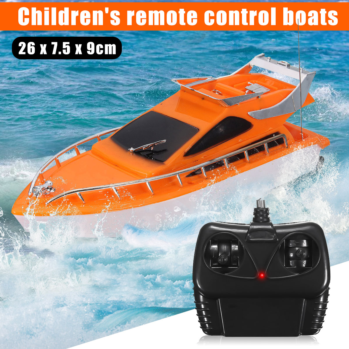 Electric Remote Control RC Speed Racing Boat Super Mini Speed Kids Chirdren Boat Toys Random Color Christmas Birthday Gift