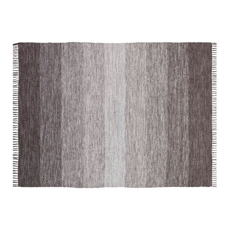 Chesapeake Cotton Ombre Grey Area Rug Large (5'x7') ()