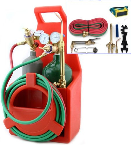 New MTN-G Professional Portable Oxygen Acetylene Oxy Welding Cutting Weld Torch Tank Kit