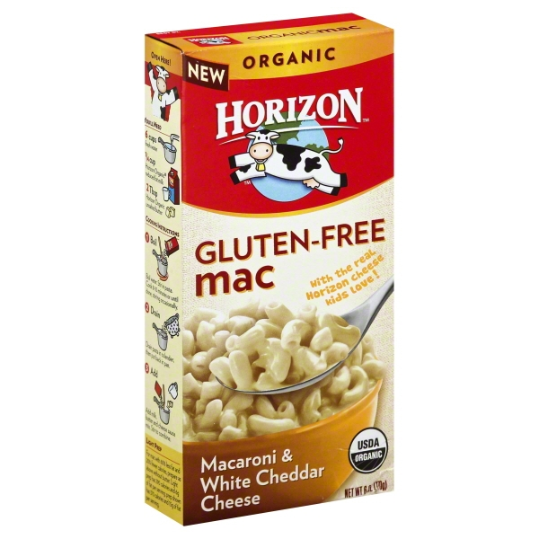 Horizon® Organic Gluten Free Cheesy Mac Pasta & White Cheddar Cheese 6 oz. Box