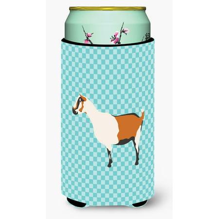 Alpine Goat Blue Check Tall Boy Beverage Insulator Hugger BB8054TBC