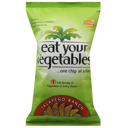 Snikiddy Eat Your Vegetables Jalapeno Ranch Chips, 4.5 oz (Pack of 12)
