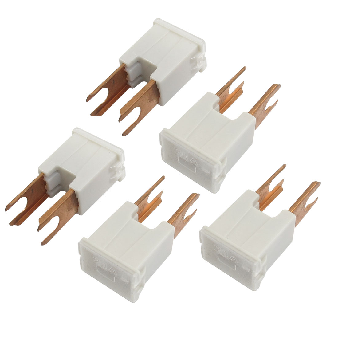 5 Pcs Auto Connecting Style 20A PAL Slow Blow Fuse White - image 1 of 1