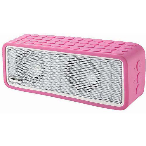 Sylvania Bluetooth Mini Speaker with Silicon Protector Cover, Pink