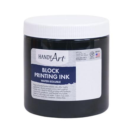 Base Ink (Handy Art Non-Toxic Water Based Block Printing Ink, 8 oz Jar,)