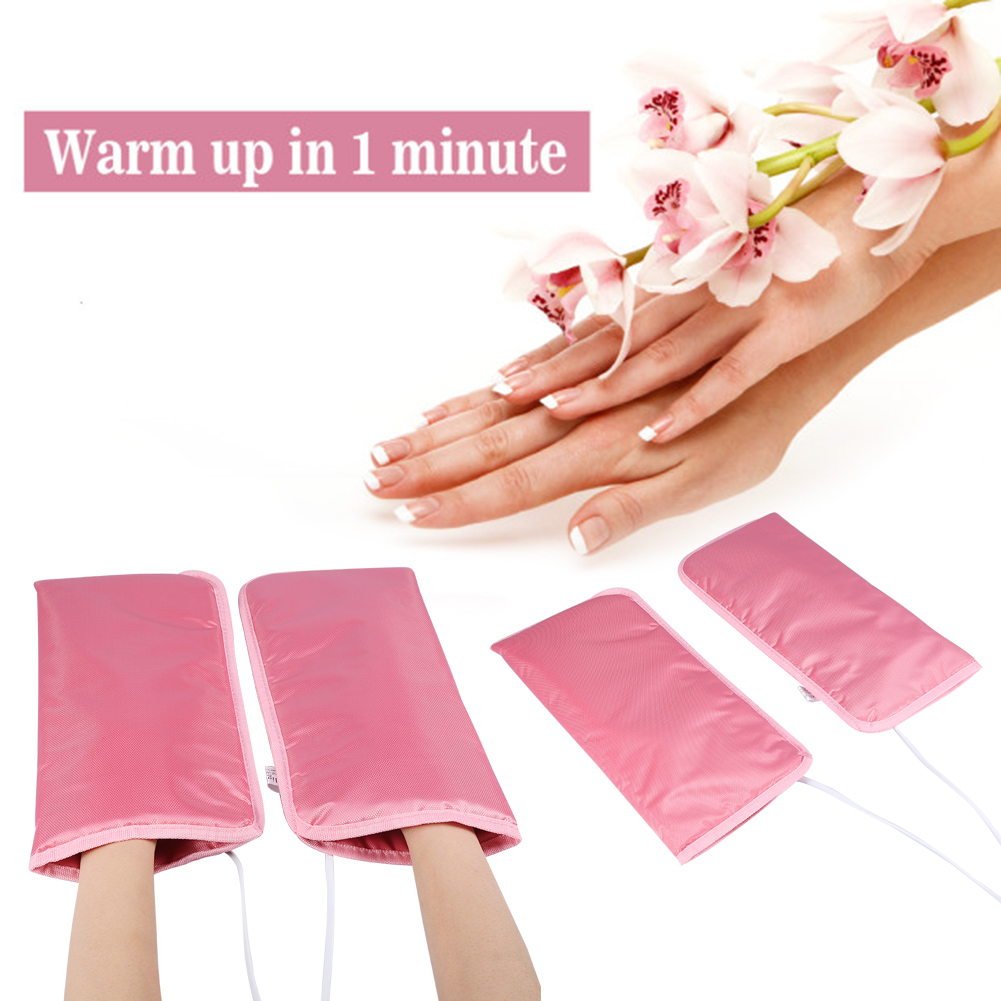 Tbest 2 Types of Mitts For Paraffin Manicure Waxing Skin Mate Professional SPA Treatment Heat Mittens,Mitts, Wax Therapy Mitts