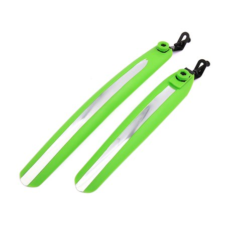 Father' s Day Gift l 2 Pcs Reflective Front Rear Mud Guards Mudguard Fenders Green for Cycling Bike