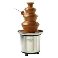 Nostalgia Electrics CFF-986 3-Tier Stainless Steel Chocolate Fondue Fountain