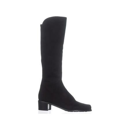 Stuart Weitzman Villepentagon Knee High Boots, Black Suede - image 4 of 6