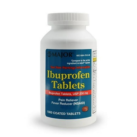 Generic Ibuprofen Tablets 200mg 1000 Coated Tablets Compare to Advil ()