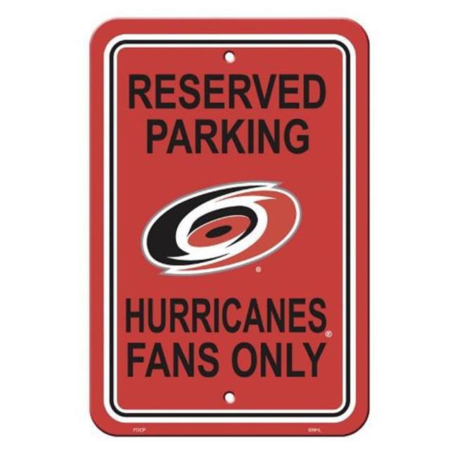 Fremont Die 80210 Carolina Hurricanes Plastic Parking Sign