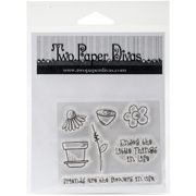 Two Paper Divas Clear Stamps 6.5 Inch X 4.5 Inch-Friends & Flowers
