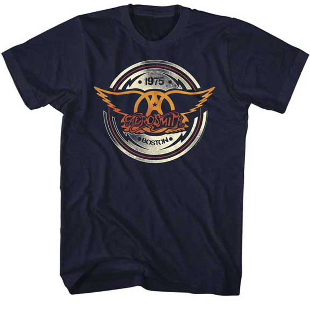 Aerosmith Men's  Aerocircle T-shirt Navy