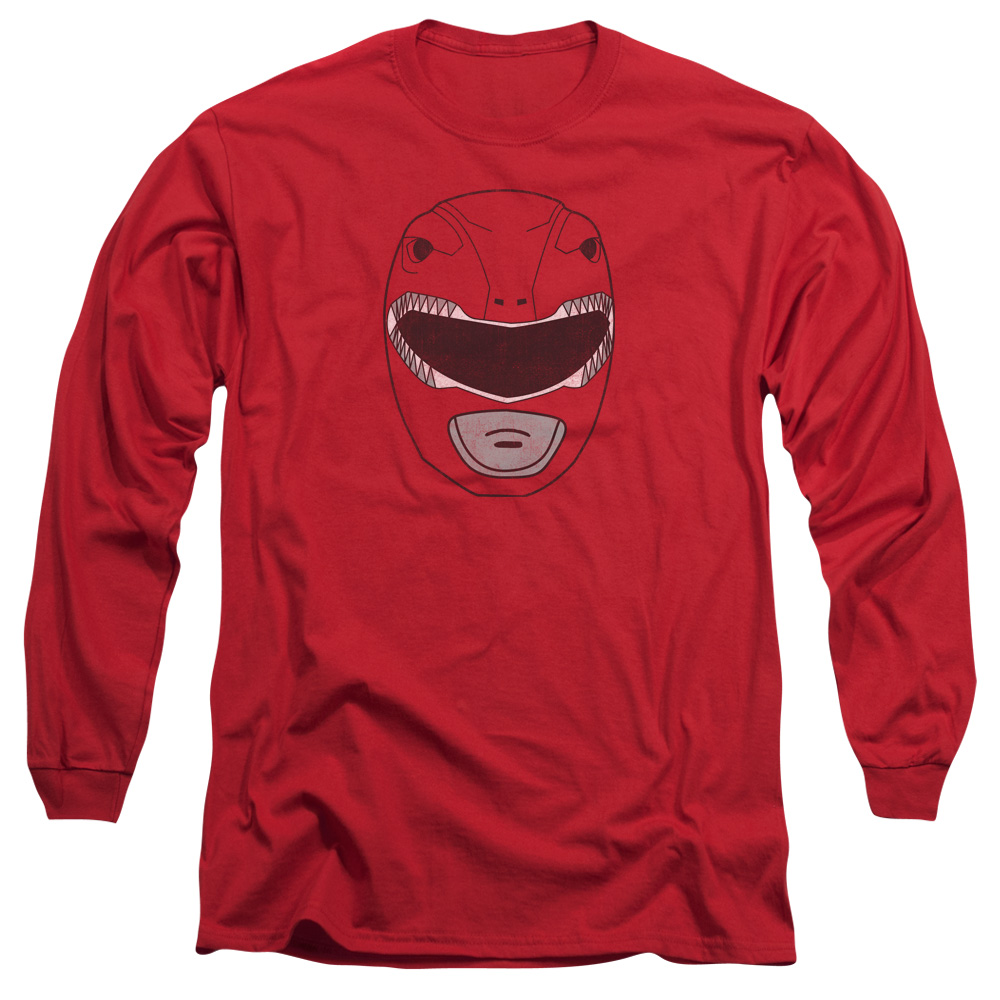 POWER RANGERS/RED RANGER MASK-L/S ADULT 18/1-RED-XL