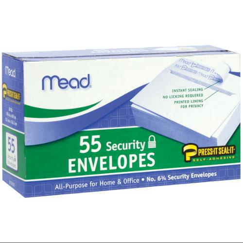 "Boxed Peel & Stick Envelopes 3-5/8""X6-1/2"" 55/Pkg-Security #6"