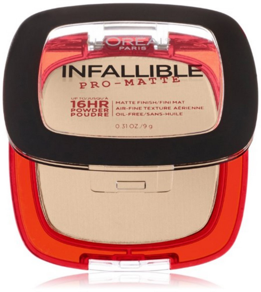 L'Oreal Paris Infallible Pro-Matte Powder, Porcelain [100] 0.31 oz (Pack of 4)