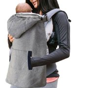 Newborn Baby Carrier Sling Winter Warm Cover Cloak Backpack Blanket with Pocket Grey