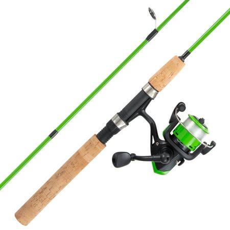 "Rad Sportz Spinning Fishing Rod & Reel Combo- Starter Set- 5'2"" Fiberglass Pole"