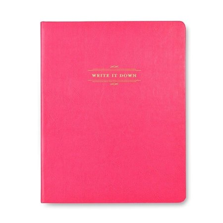 Foil Leather - Gartner Studios Pink Faux Leather Journal with Gold Foil - 7.5 x 9.5 inches