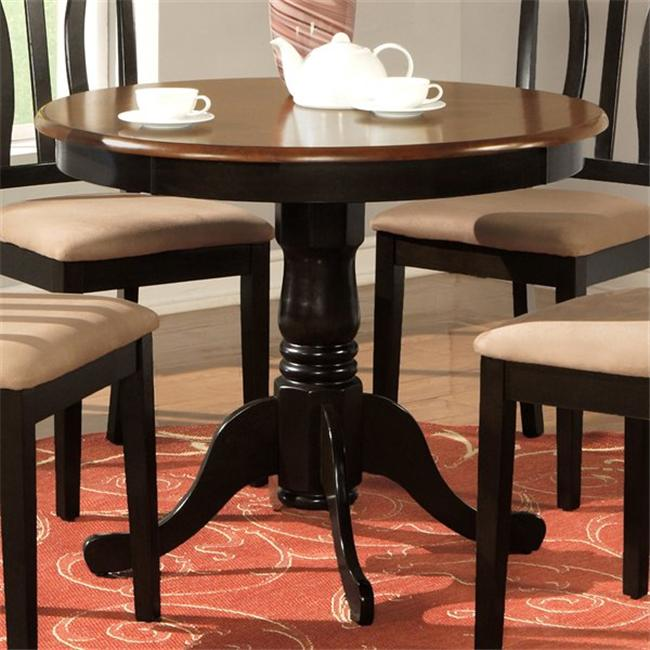 Wooden Imports Ad01 T Bl Ch Antique Table 36 In Round Black And Cherry Walmart Com Walmart Com