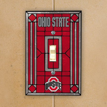 Ohio State Buckeyes Scarlet Art-Glass Switch Plate Cover - No Size ()