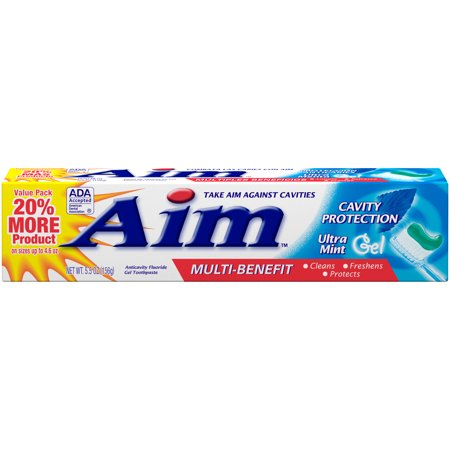 AIM Cavity Protection Toothpaste, Ultra Mint Gel, 5.5 oz.