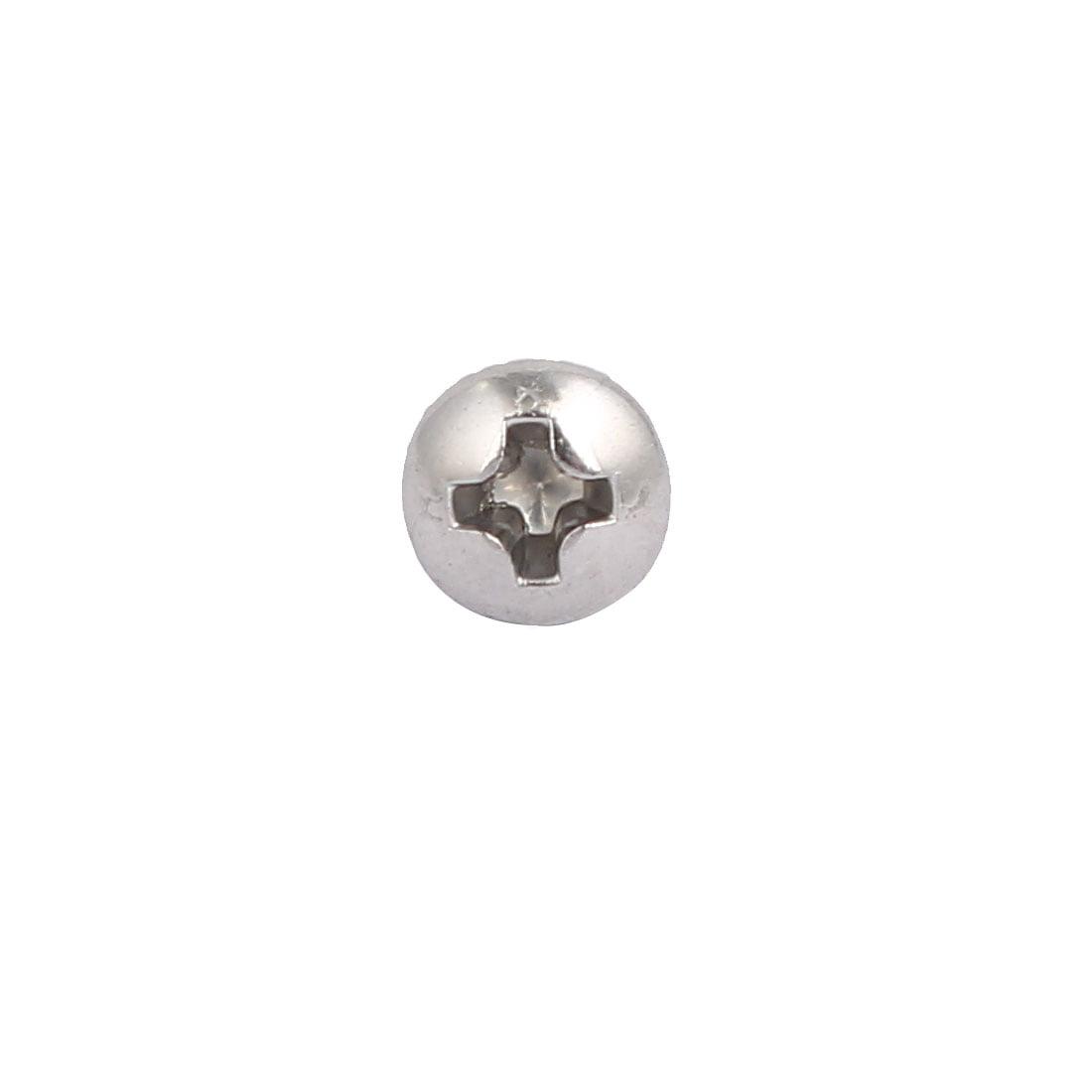 6#-32x1 pouces 304 acier inoxydable Tête Cruciforme vis machine 40Pcs - image 1 de 3