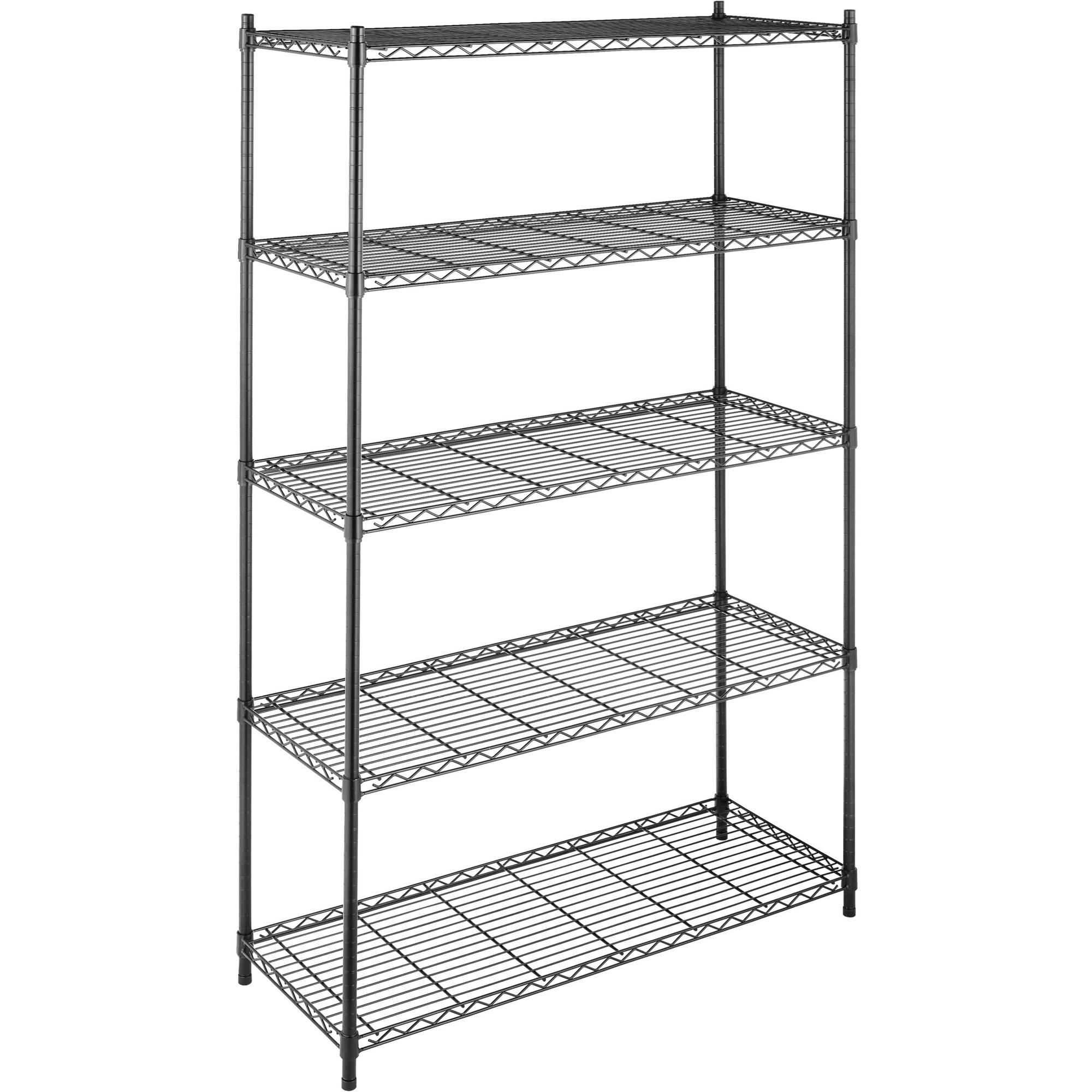 Whitmor Supreme Large 5-Tier Shelving, Black
