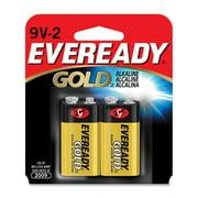 Eveready Gold Alkaline 9-volt Batteries - 9v - Alkaline - 9 V Dc (a522bp-2ct)