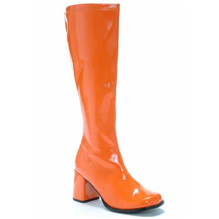 Orange Gogo Boots - Go-go Boot