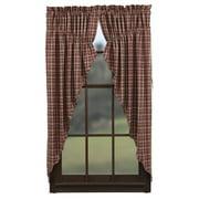Braddock Prairie Curtain Scalloped Lined Set of 2 63x36x18