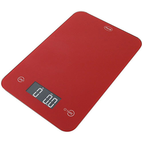 American Weigh Thin Digital Kitchen Scale, Red by American Weigh Scales