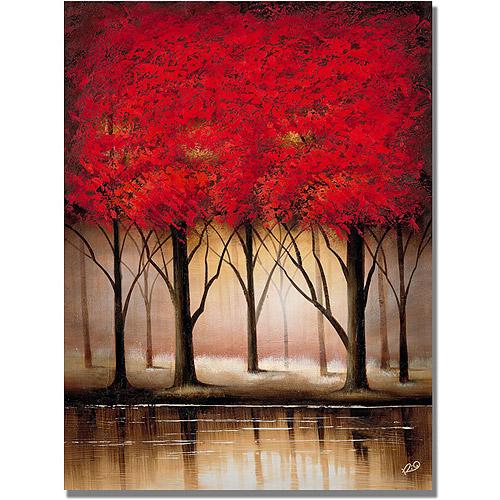 "Trademark Fine Art ""Serenade in Red"" Canvas Art by Rio"