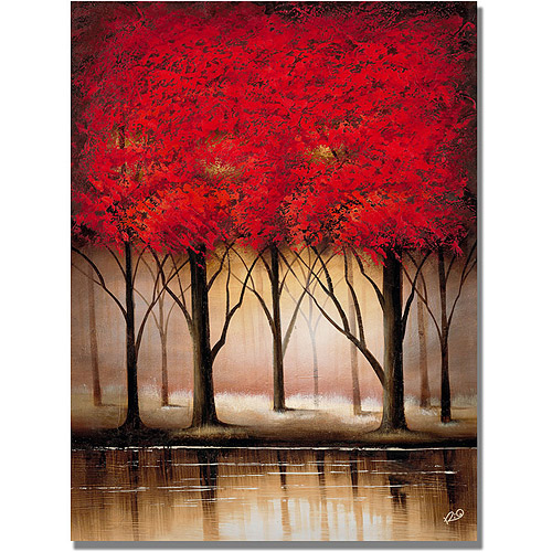 "Trademark Fine Art ""Serenade in Red"" Canvas Art by Rio"