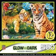 MasterPieces Hidden Image Glow A Watchful Eye 500 Piece Jigsaw Puzzle