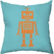 Checkerboard, Ltd Sweet Robot Throw Pillow