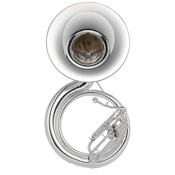Jupiter Deluxe Silver BBb Sousaphone, JSP1100S by Jupiter