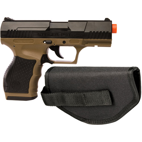 Crosman Stinger P9T Soft Air Pistol, Dark Earth Black