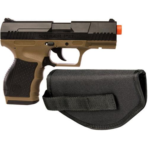 Crosman Stinger P9T Soft Air Pistol, Dark Earth Black