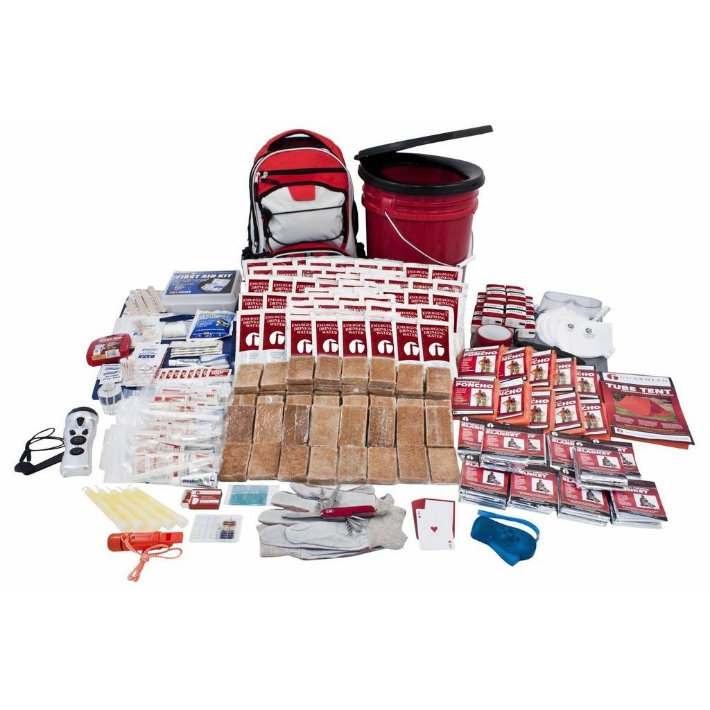 Click here to buy Guardian Survival Gear 10-person Guardian Deluxe Survival Kit by Overstock.