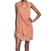ASTR NEW Pink Dusty Mauve Women's Size Medium M Shift Drapey Solid Dress