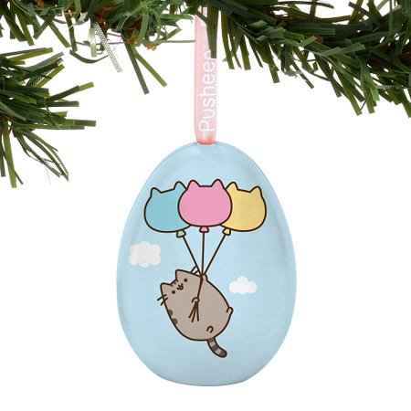 Department 56 Pusheen Flying Away Pusheen Tin Egg Ornament