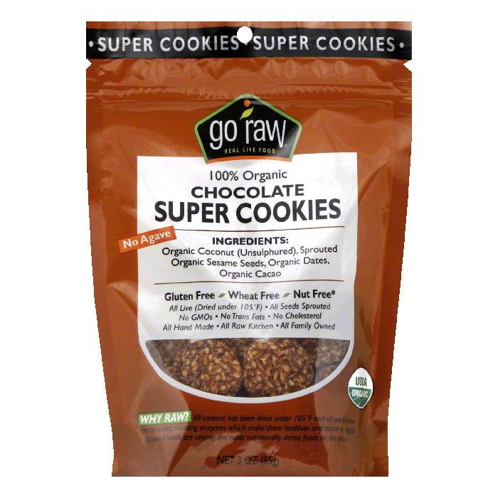 Go Raw Freeland Choco Crunch Sprouted Cookies, 3.0-Ounce Bags