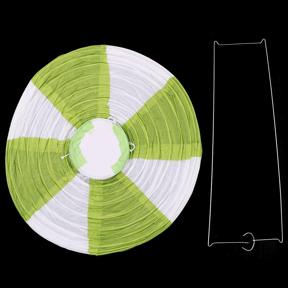Festival Party Paper DIY Handmade Lightless Hot Air Balloon Lantern Green White - image 4 of 6