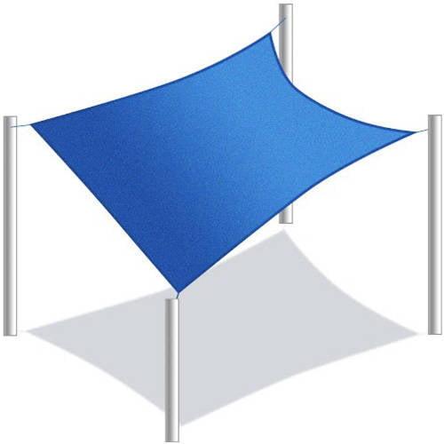 Aleko Waterproof Sun Shade Sail Rectangular 10 X 6 5 Feet Blue