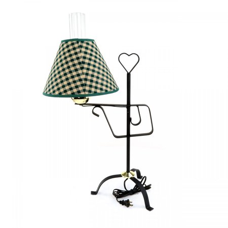 Table Lamp Black Wrought Iron Table Lamp Green Shade 24.5